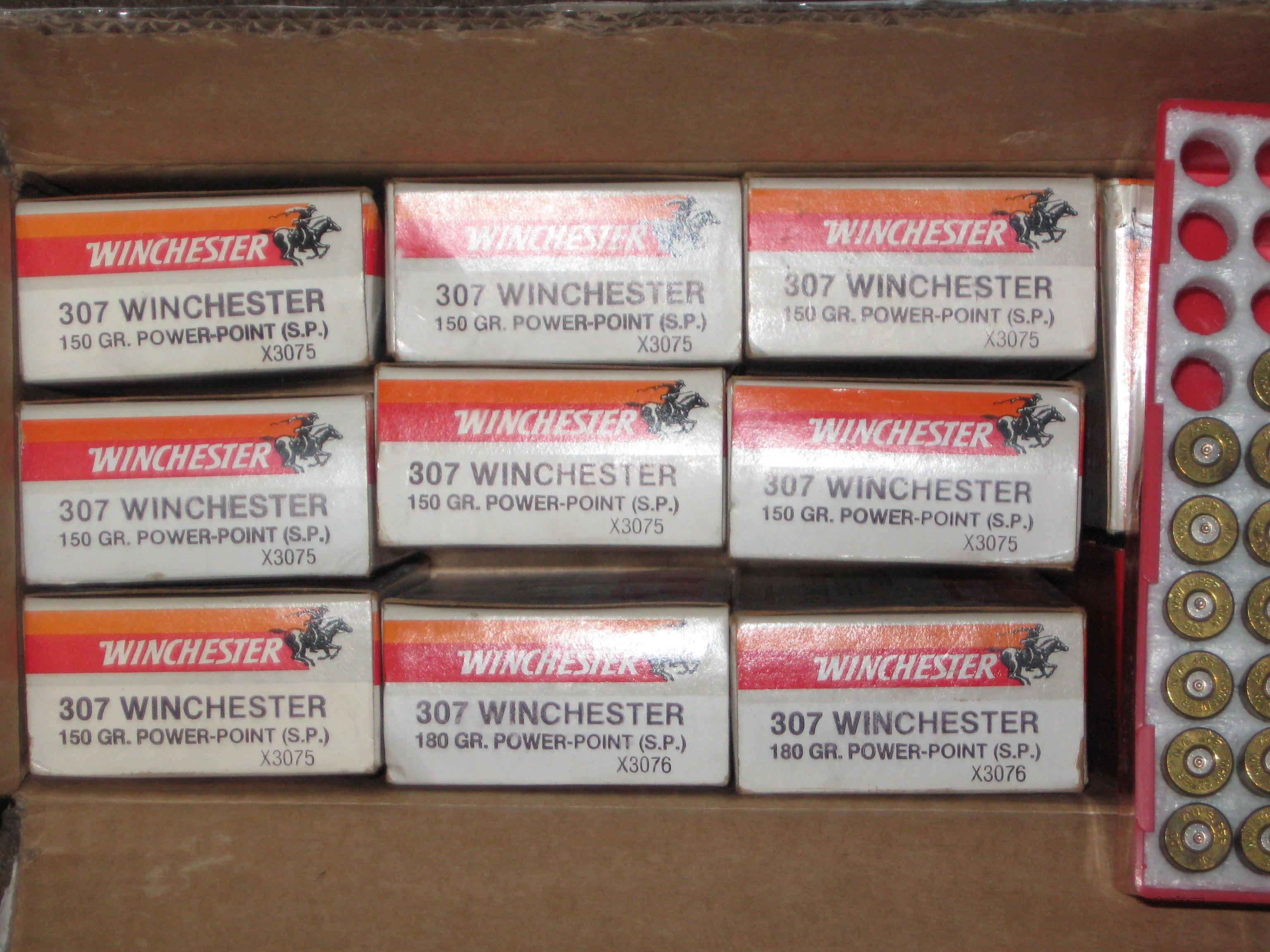 307 Winchester once fired super-x brass (rare)  233pc.  Non-Guns > Reloading > Components > Brass