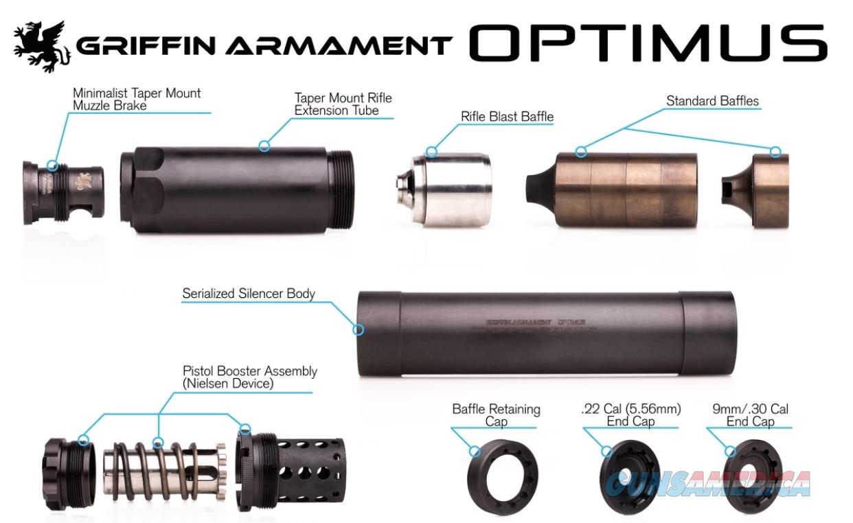 Griffin Armament Optimus Silencer   Guns > Rifles > Class 3 Rifles > Class 3 Suppressors