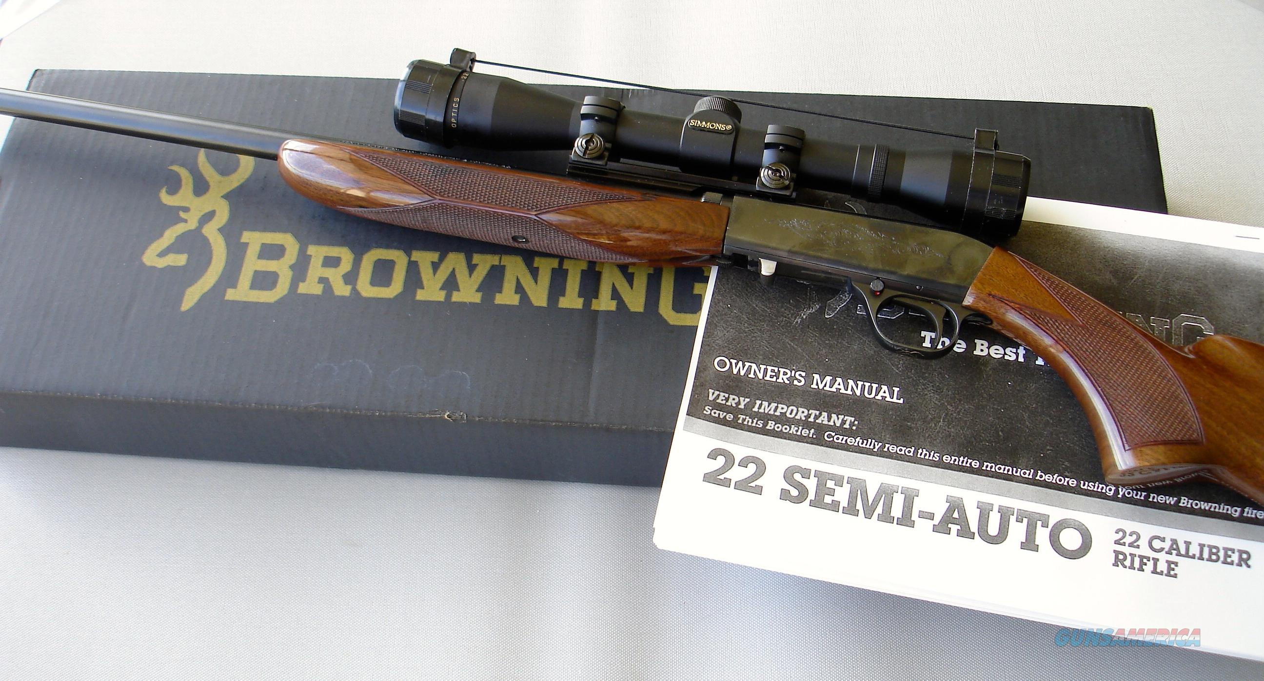 Browning semi auto takedown 22 lr with mounts and scope guns gt rifles