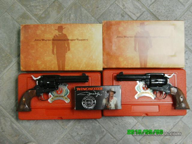John Wayne 100th Birthday Special Edition Vaquero-Sequential Set  Guns > Pistols > Ruger Single Action Revolvers > Cowboy Action