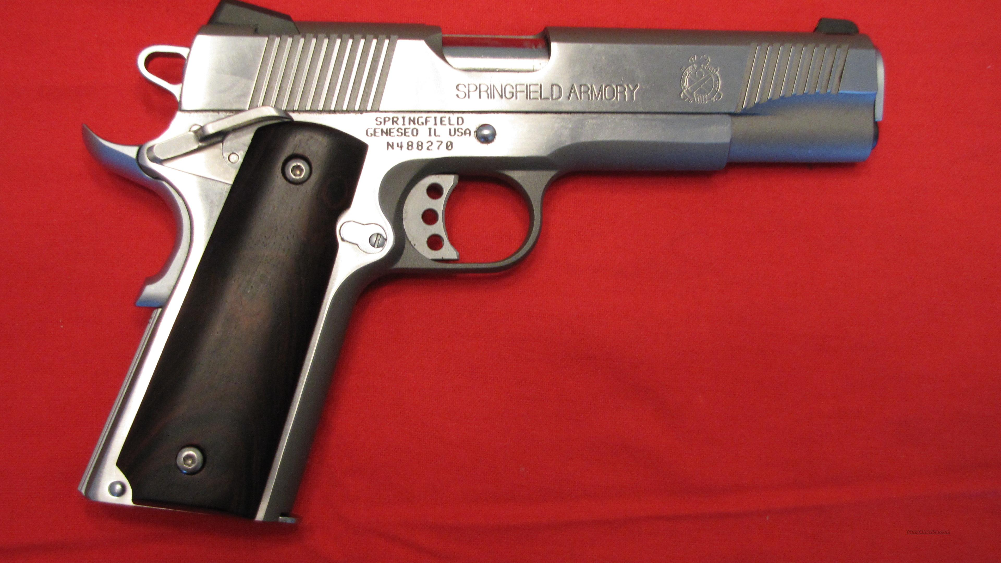 SPRINGFIELD ARMORY 1911-A1 45 CAL STAINLESS STEEL   Guns > Pistols > Springfield Armory Pistols > 1911 Type