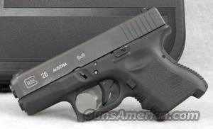Glock 26 9mm Pistol, Night Sights, 10-Round Capacity - Used in Excellent Condition   Guns