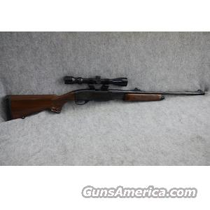 Remington 760 Pump Action Rifle in .30-06, Wood Stock, 3-9x40 Bushnell Scope, See Through Rings, Iron Sights - USED IN EXCELLENT CONDITION!  Guns