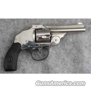 Iver Johnson Second Model Safety Automatic Hammerless .38 S&W Nickel C&R - VERY GOOD  Guns