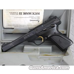 "Browning Buck Mark Standard .22LR Pistol, 5.5"" Barrel, Blue Finish - USED IN GOOD CONDITION IN BOX!  Guns"