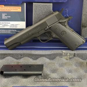 Colt 1991A1 .45 ACP Pistol, Black Oxide Finish, Rubber Grips - USED IN EXCELLENT CONDITION IN BOX!  Guns