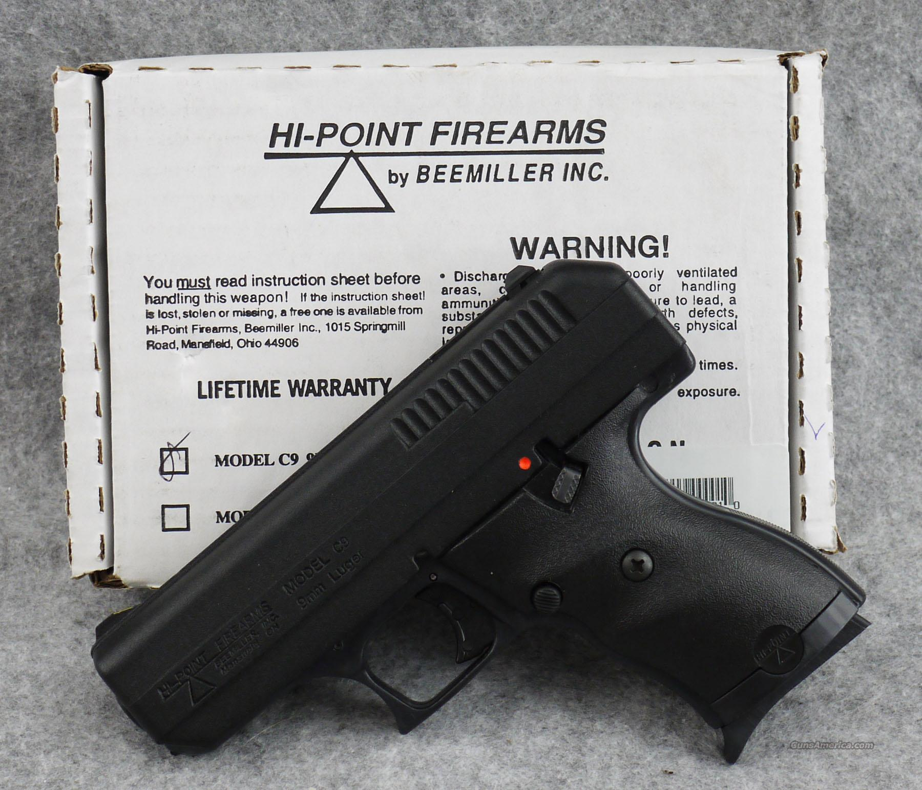 Hi-Point C9  9mm - Excellent with box  Guns
