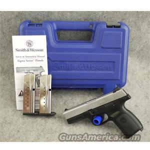 Smith & Wesson SW9VE Matte Chrome - EXCELLENT WITH BOX  Guns