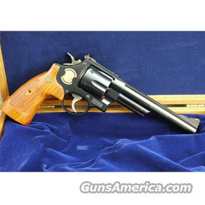 Smith & Wesson Model 29 50th Anniversary .44 Magnum Revolver, 14K Gold Inlays, African Cocobolo Grips, Mahogany Presentation Case - COLLECTORS ITEM, AS NEW IN BOX!  Guns