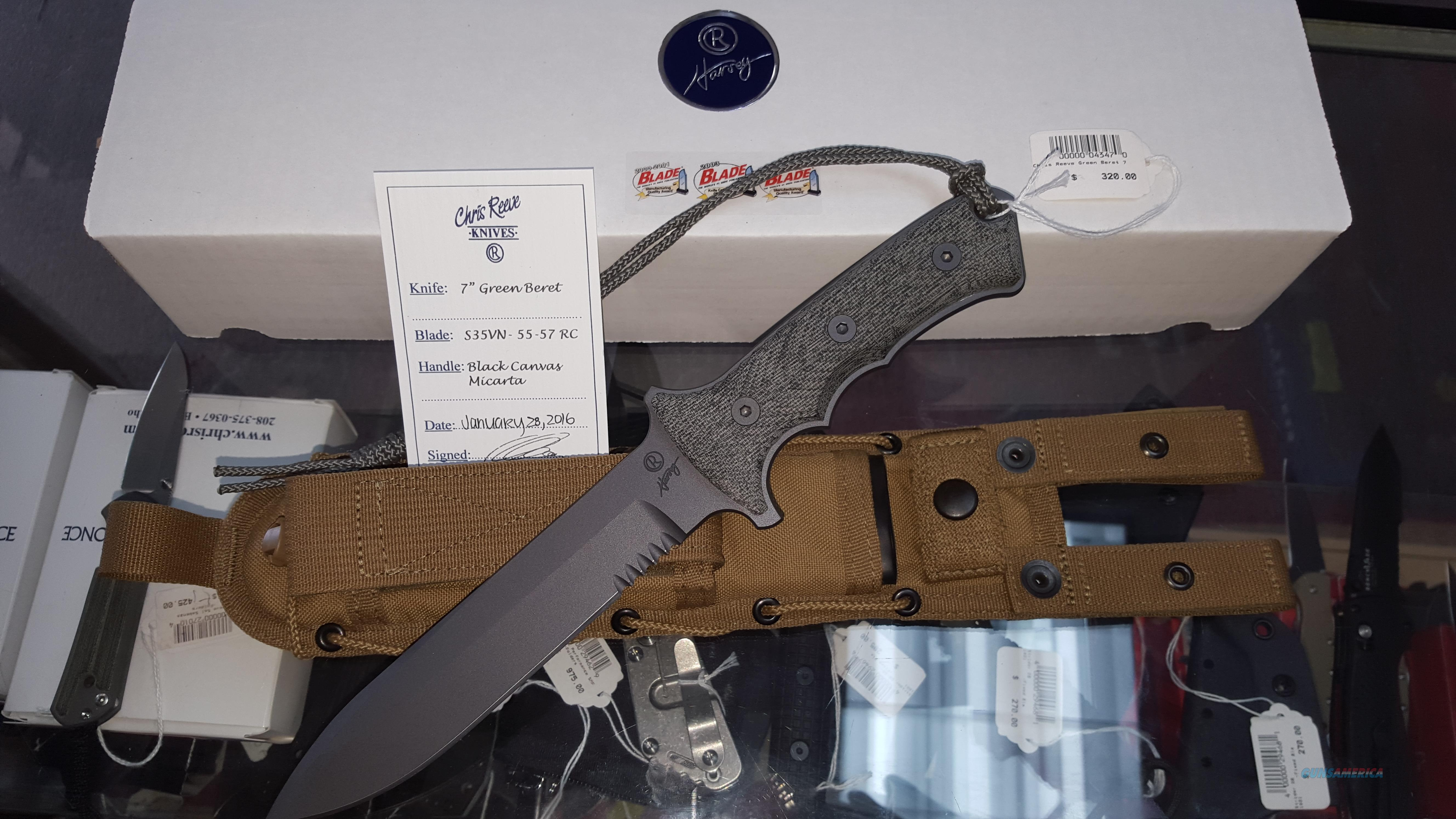 "Chris Reeves Green Beret 7"" NIB No CC Fees    Non-Guns > Knives/Swords > Knives > Fixed Blade > Hand Made"