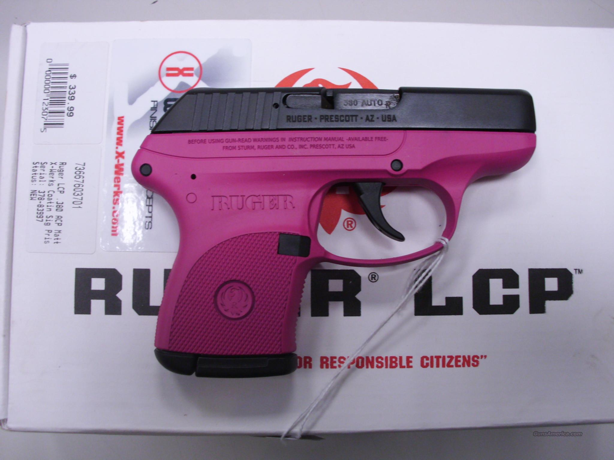 Ruger LCP .380 ACP X-Werks Sig Pink New  Guns > Pistols > Ruger Semi-Auto Pistols > LCP