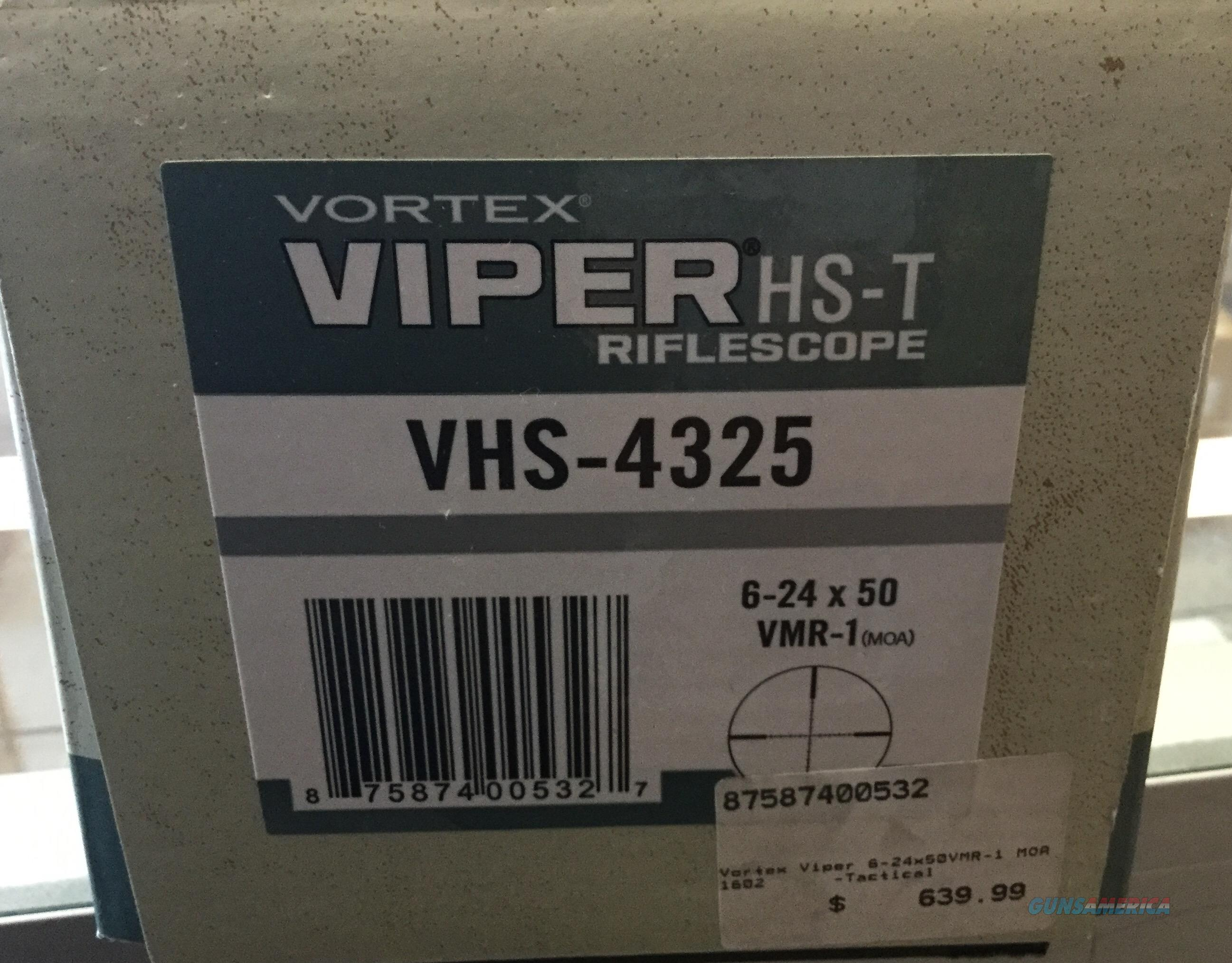 Vortex Viper HS-T 6-24x50 MOA NIB NO CC FEES   Non-Guns > Scopes/Mounts/Rings & Optics > Rifle Scopes > Variable Focal Length