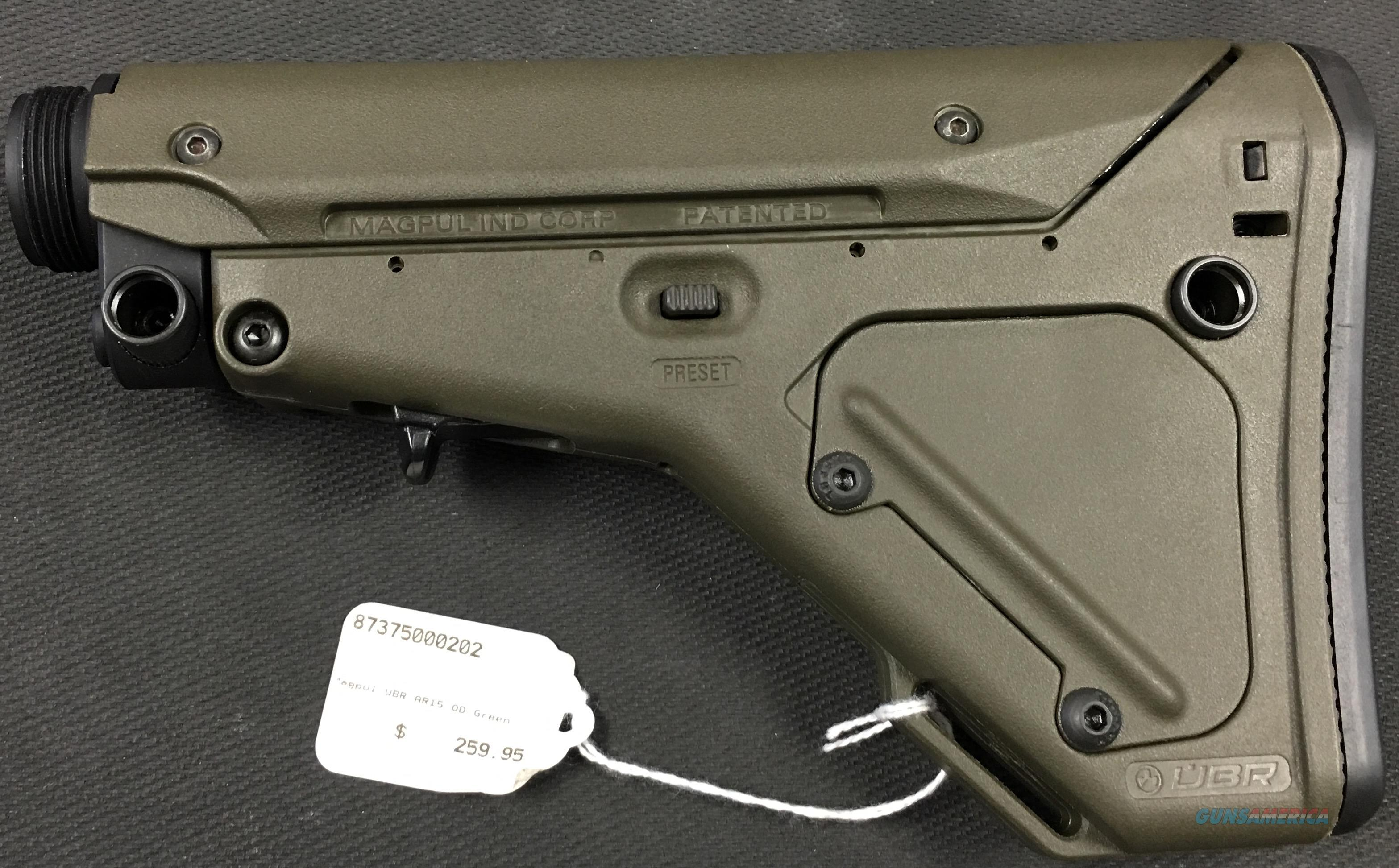 Magpul UBR AR-15 Stock Green NIB NO CC FEES AR15  Non-Guns > Gun Parts > Stocks > Polymer