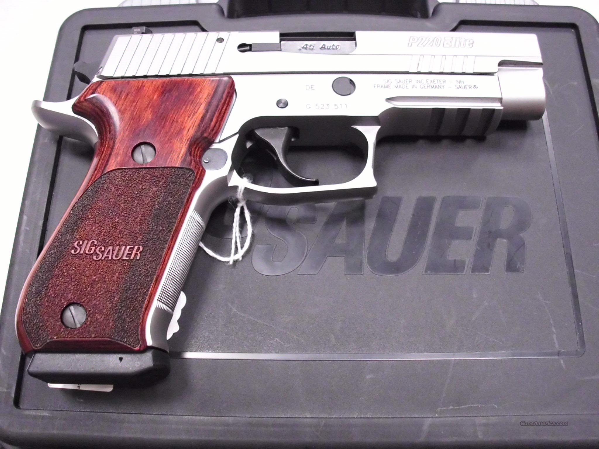 Sig Sauer P220 Elite Stainless 45ACP Used  Guns > Pistols > Sig - Sauer/Sigarms Pistols > P220