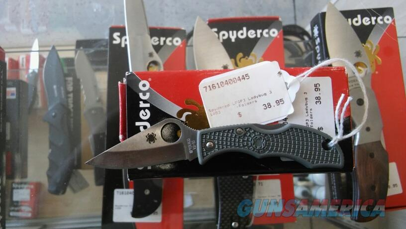 Spyderco LFGP3 Ladybug3 NIB NO CC FEES  Non-Guns > Knives/Swords > Knives > Folding Blade > Hand Made