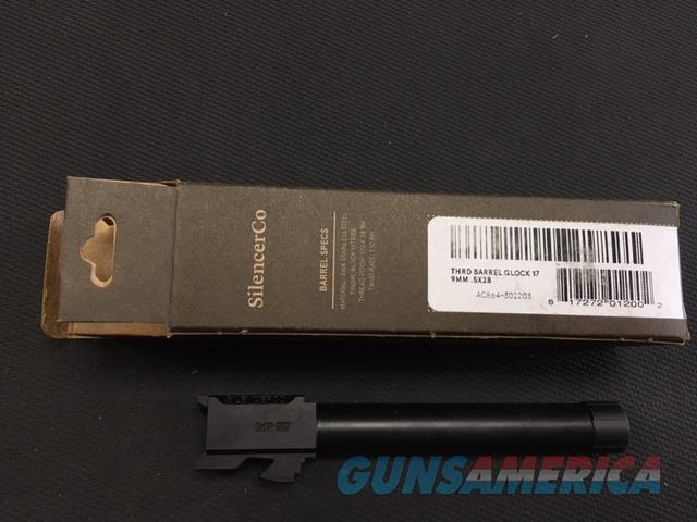 SilencerCo Glock 17 Threaded Barrel NIB NO CC FEES  Non-Guns > Barrels