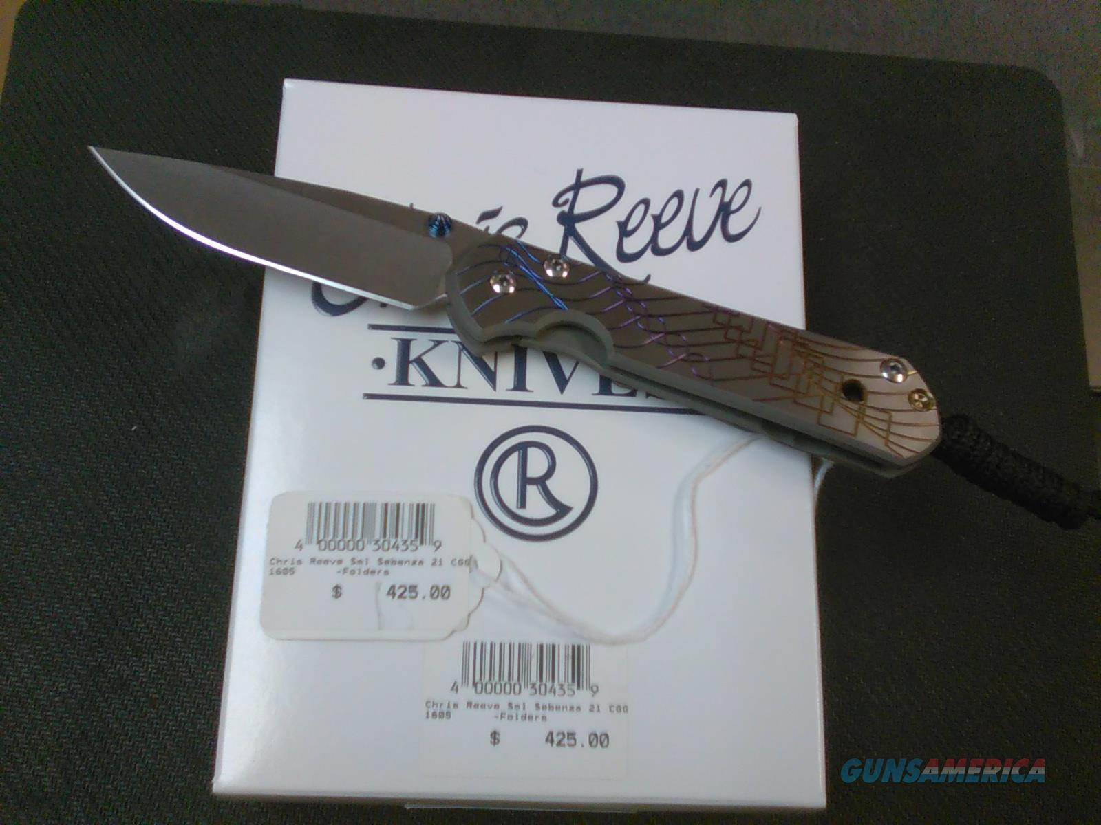 Chris Reeve Small Sebenza 21 CGG NO CC FEES  Non-Guns > Knives/Swords > Knives > Folding Blade > Hand Made