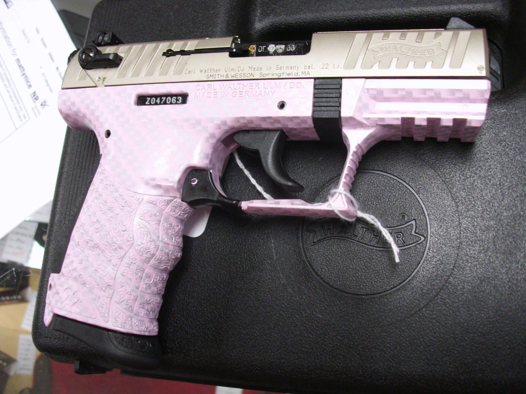 Walther P22 Pink/Silver 22LR NEW  Guns > Pistols > Walther Pistols > Post WWII > P22