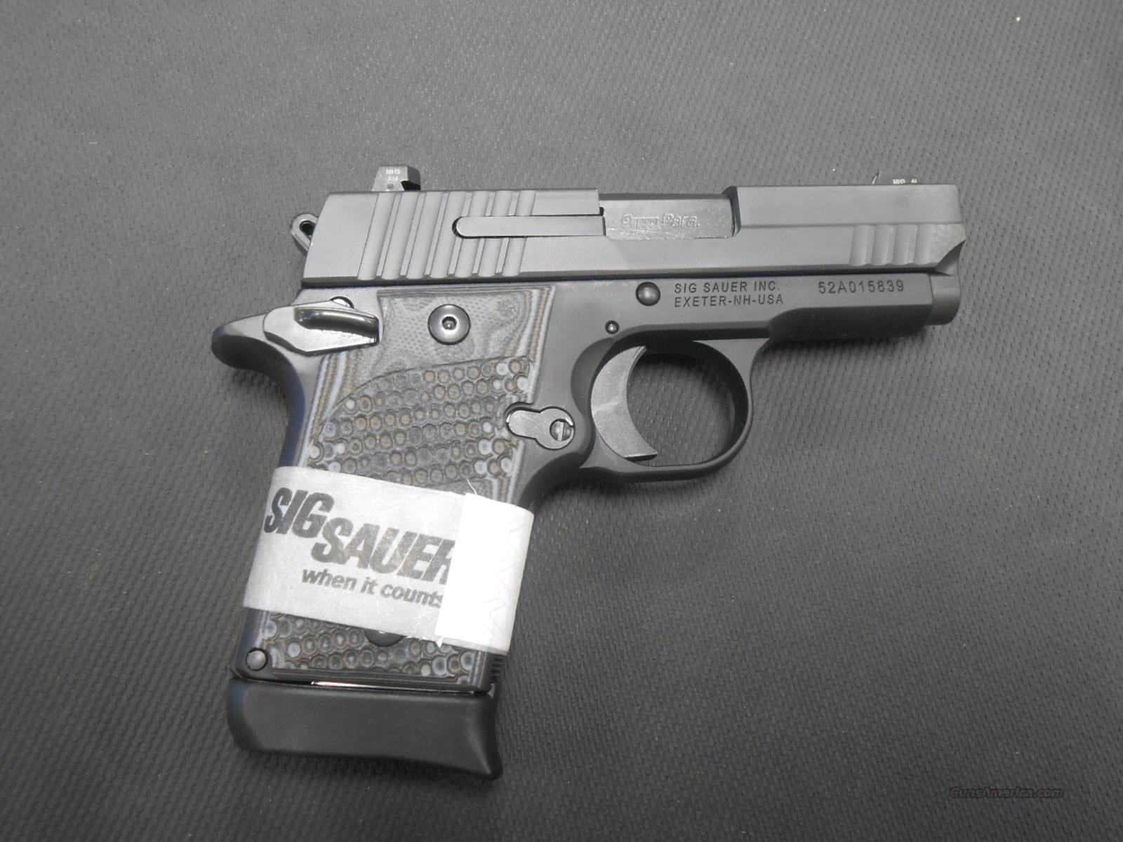 Sig P238 9mm 938-9-XTM-BLKGRY-Amb (GR)  Guns > Pistols > Sig - Sauer/Sigarms Pistols > Other