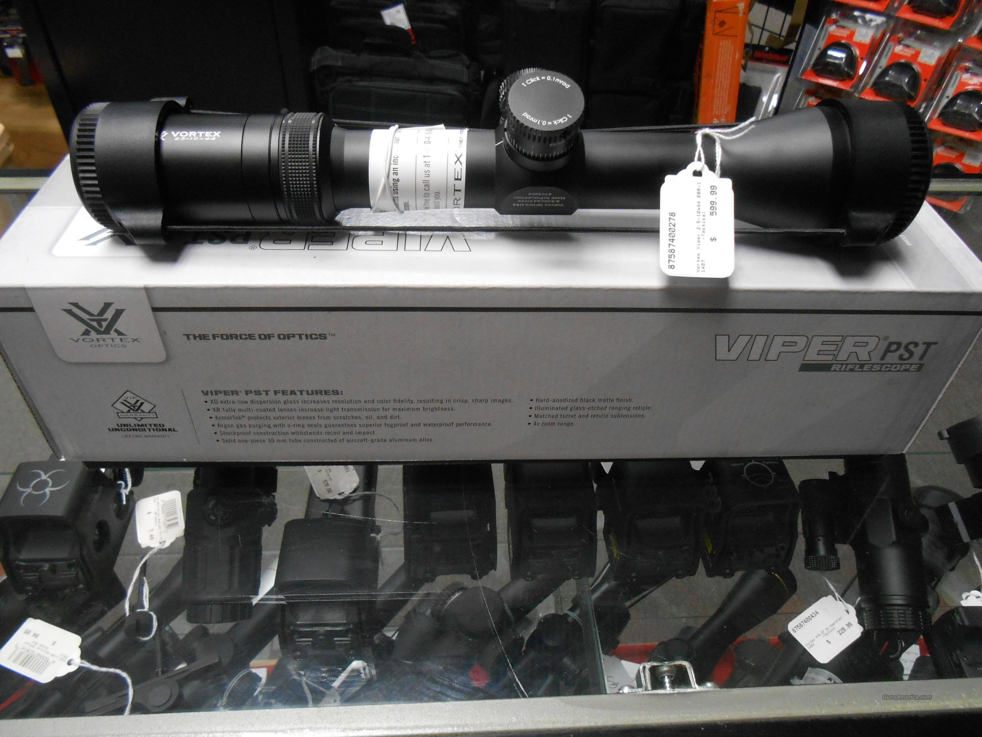 Vortex Viper 2.5-10x44 EBR-1 NO CC Fees  Non-Guns > Scopes/Mounts/Rings & Optics > Rifle Scopes > Variable Focal Length