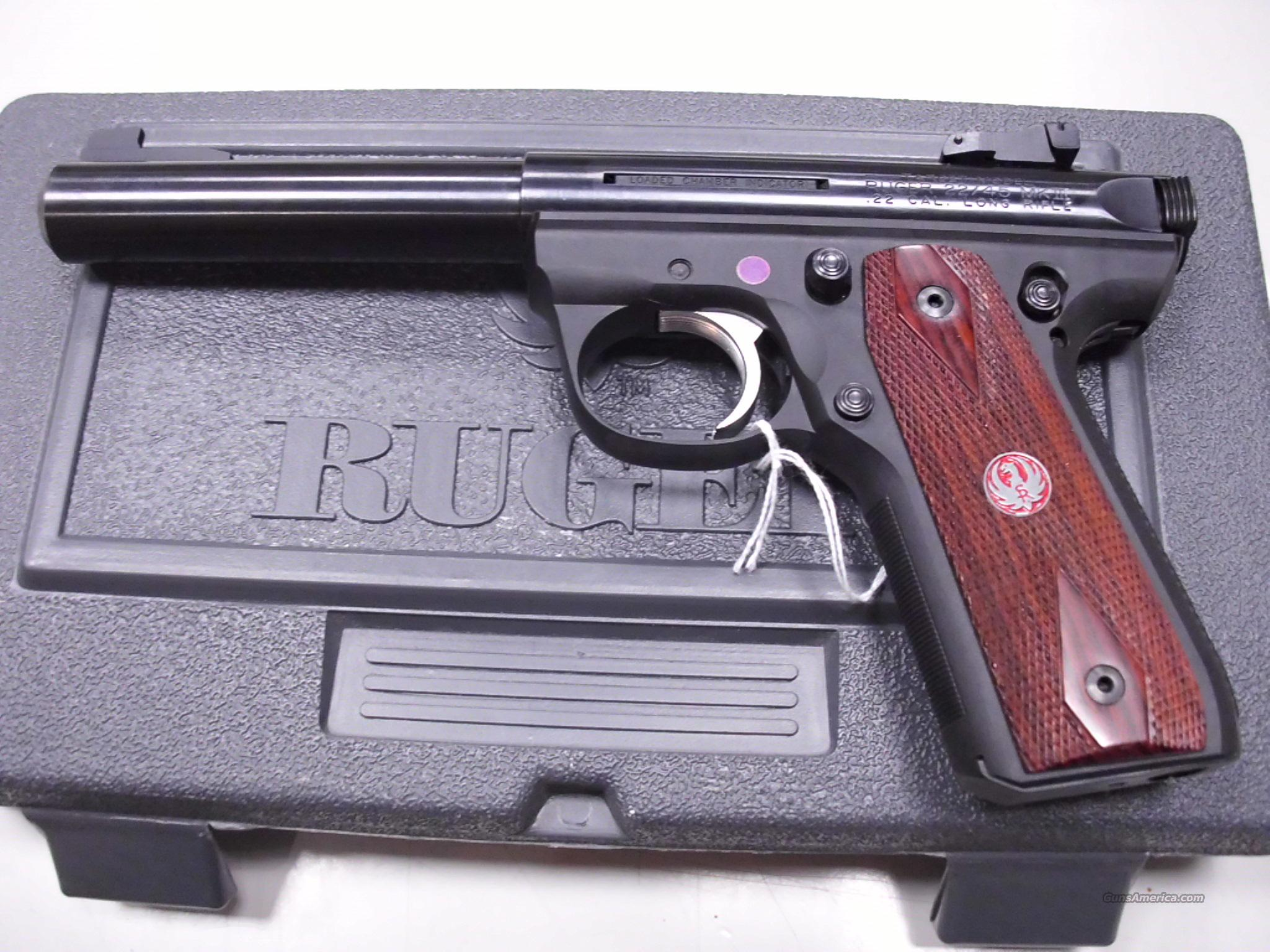 Ruger MKIII 22/45 Target 22LR Used  Guns > Pistols > Ruger Semi-Auto Pistols > Mark I & II Family