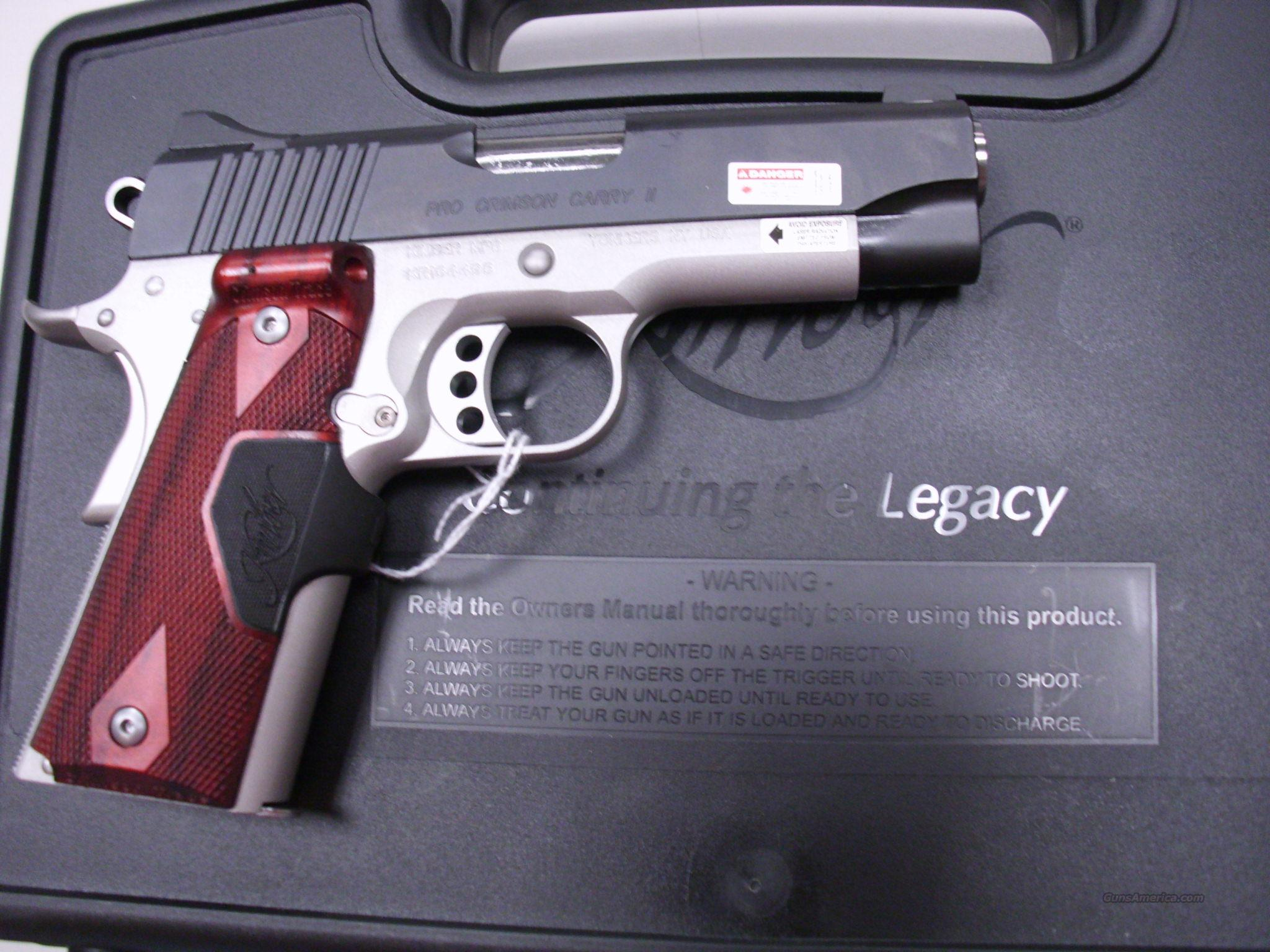Kimber Pro Crimson Carry II 45 ACP 1911 NEW 45ACP   Guns > Pistols > Kimber of America Pistols