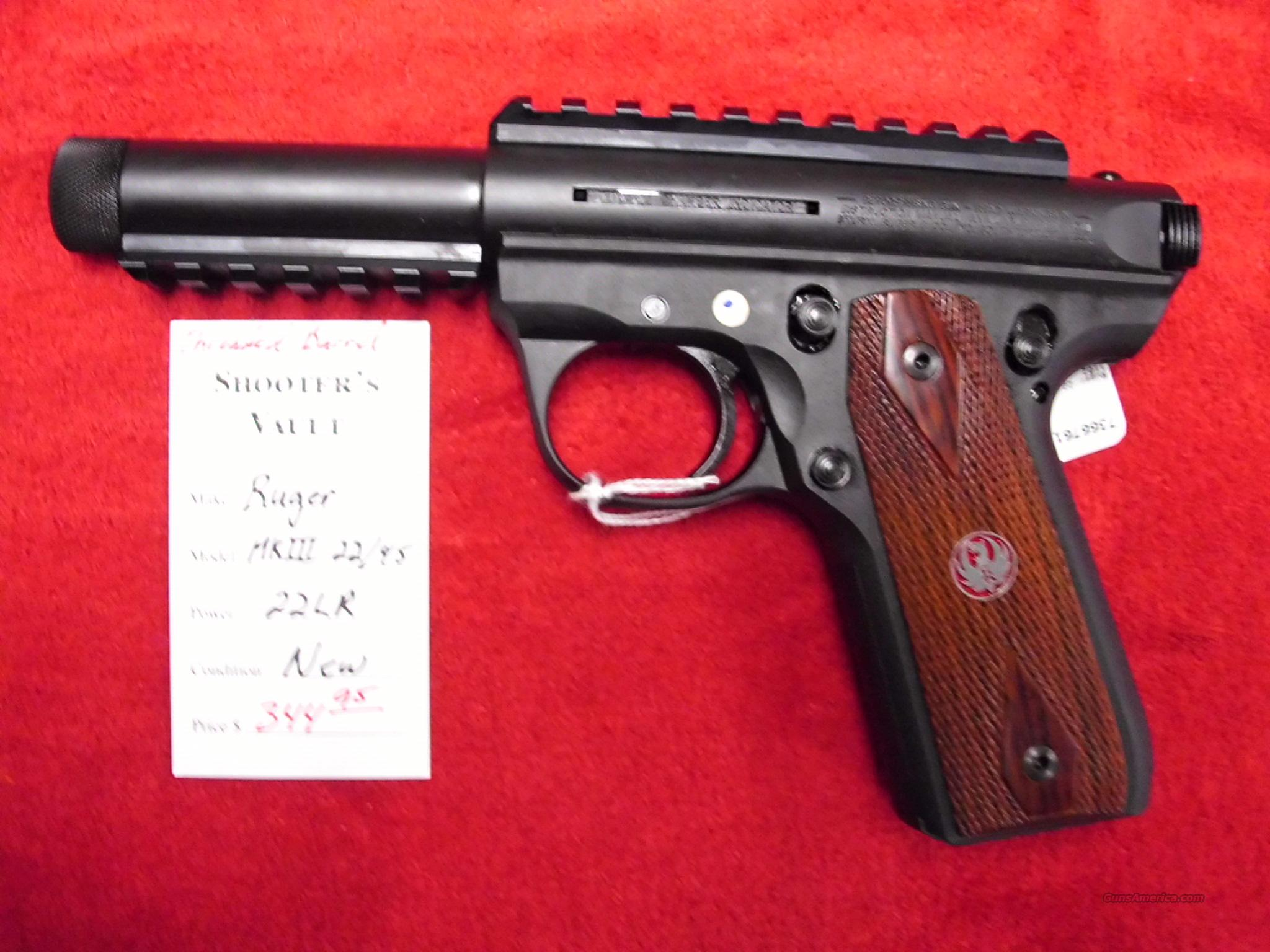 Ruger Mark III 22/45 Threaded Barrel 22 LR NEW   Guns > Pistols > Ruger Semi-Auto Pistols > Mark I & II Family
