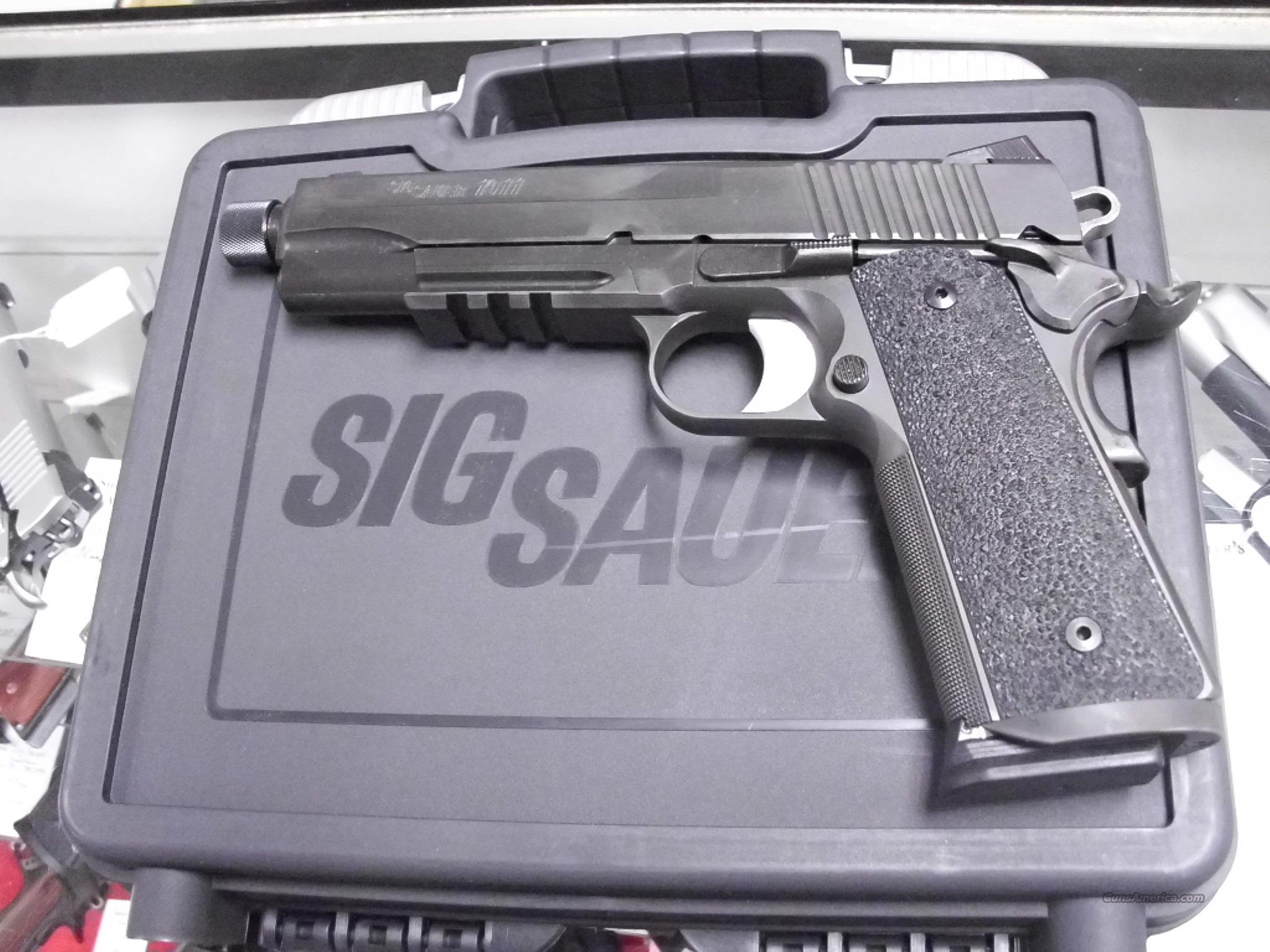 Sig Sauer Tacops Threaded Barrel NightSights 45ACP   Guns > Pistols > Sig - Sauer/Sigarms Pistols > 1911