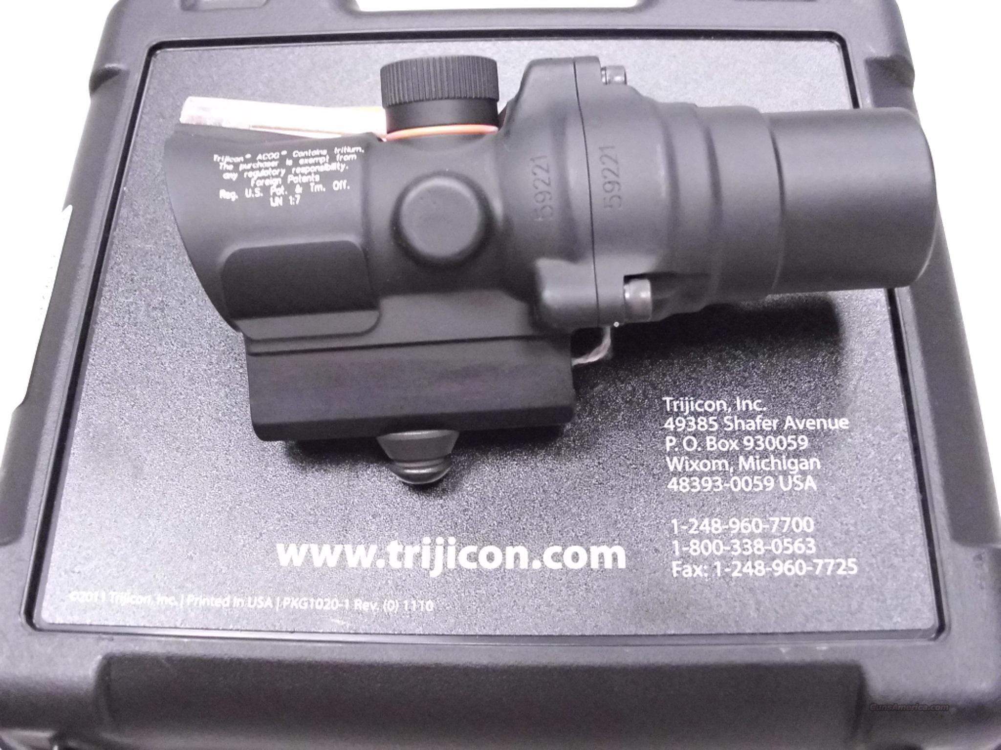 Trijicon ACOG TA44SG-10 M16 Base Housing Red NEW  Non-Guns > Scopes/Mounts/Rings & Optics > Tactical Scopes > Red Dot