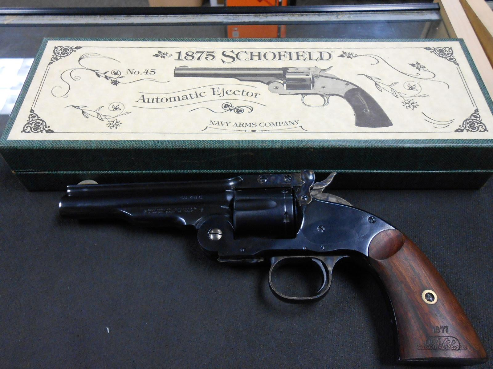 Navy Arms Used 1875 Schofield 45colt W/Box!  Guns > Pistols > Navy Arms Pistols