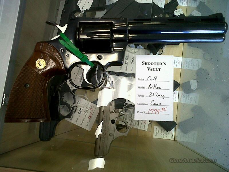 Colt Python 357mag Used  Guns > Pistols > Colt Double Action Revolvers- Modern