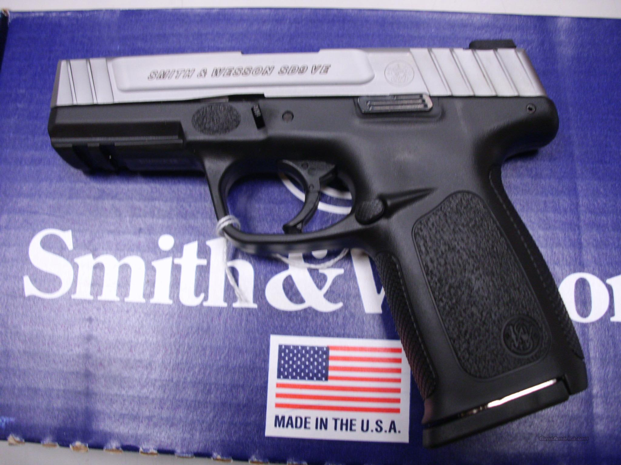 Smith & Wesson SD9VE 9mm 10rd Model 123900  Guns > Pistols > Smith & Wesson Pistols - Autos > Polymer Frame