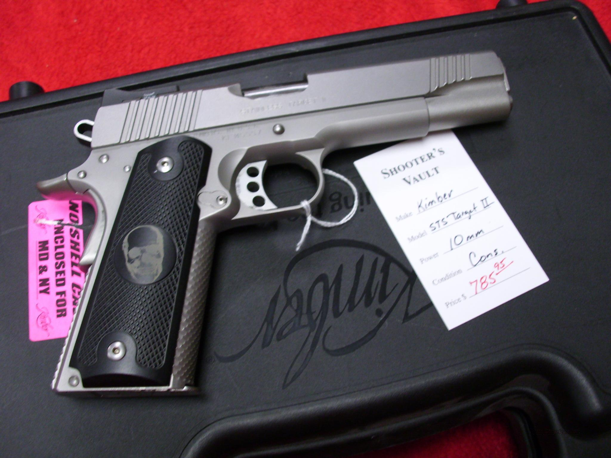 Kimber STS Target II 10 MM 1911 USED   Guns > Pistols > Kimber of America Pistols