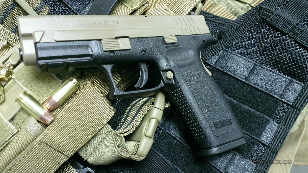 "Springfield SAI XD 45 4"" TCC Coated FDE Slide NEW   Guns > Pistols > Springfield Armory Pistols > XD (eXtreme Duty)"