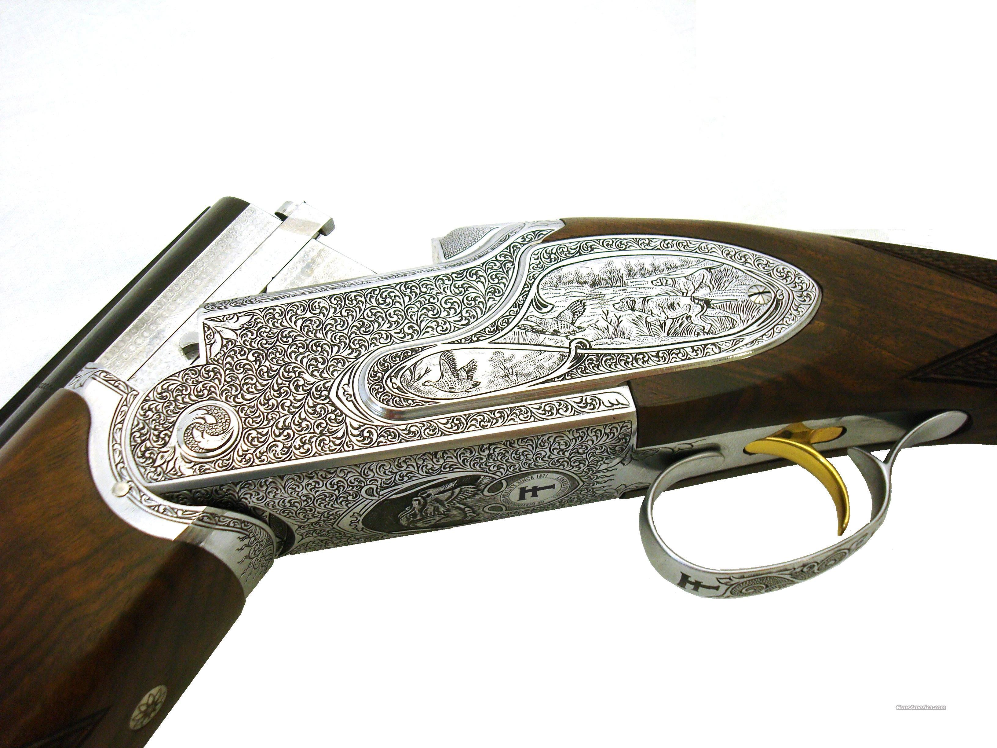 "Thomas Ferney Milazzo Model Over and Under, 12ga, 3"" Chamber, Hand Engraved Full Side Plates, w/ Gd 4 Turkish Walnut W/ Ejectors and Manual Safety   Guns > Shotguns > Double Shotguns (Misc.)  > American"