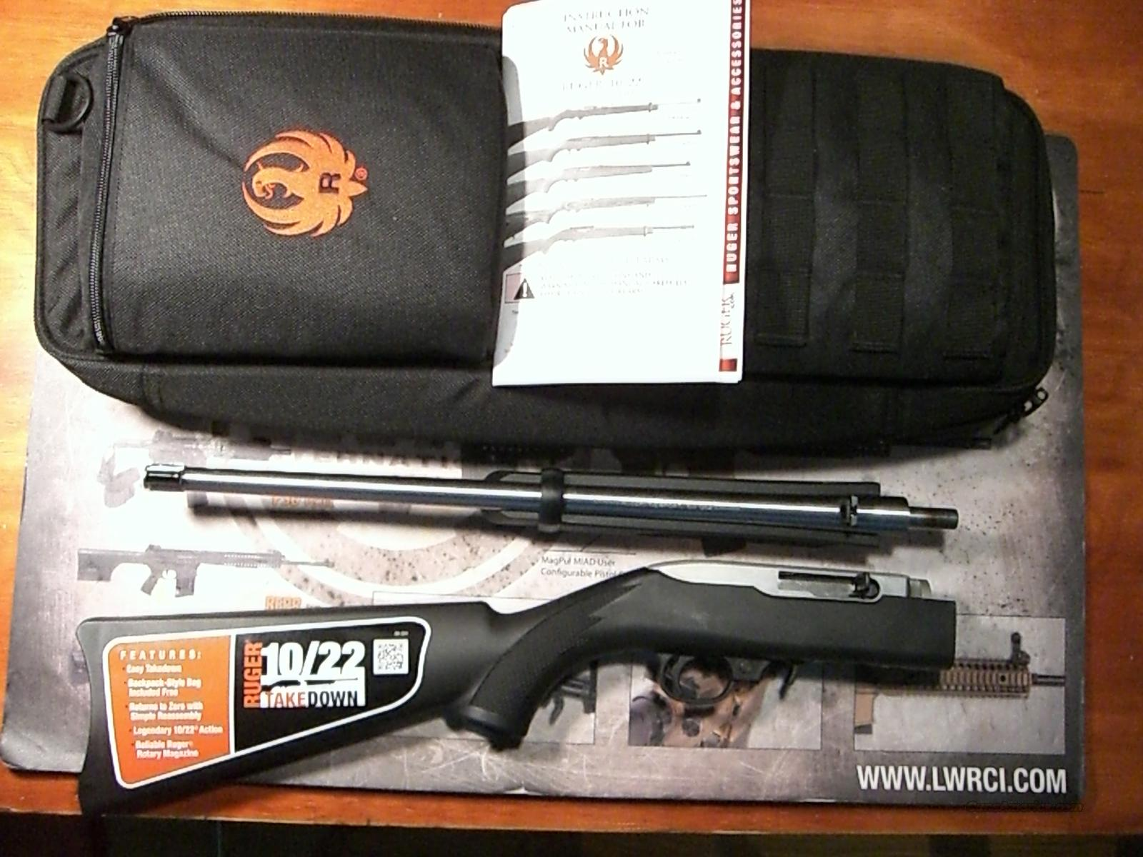 Ruger 10/22 Takedown, Stainless  Guns > Rifles > Ruger Rifles > 10-22