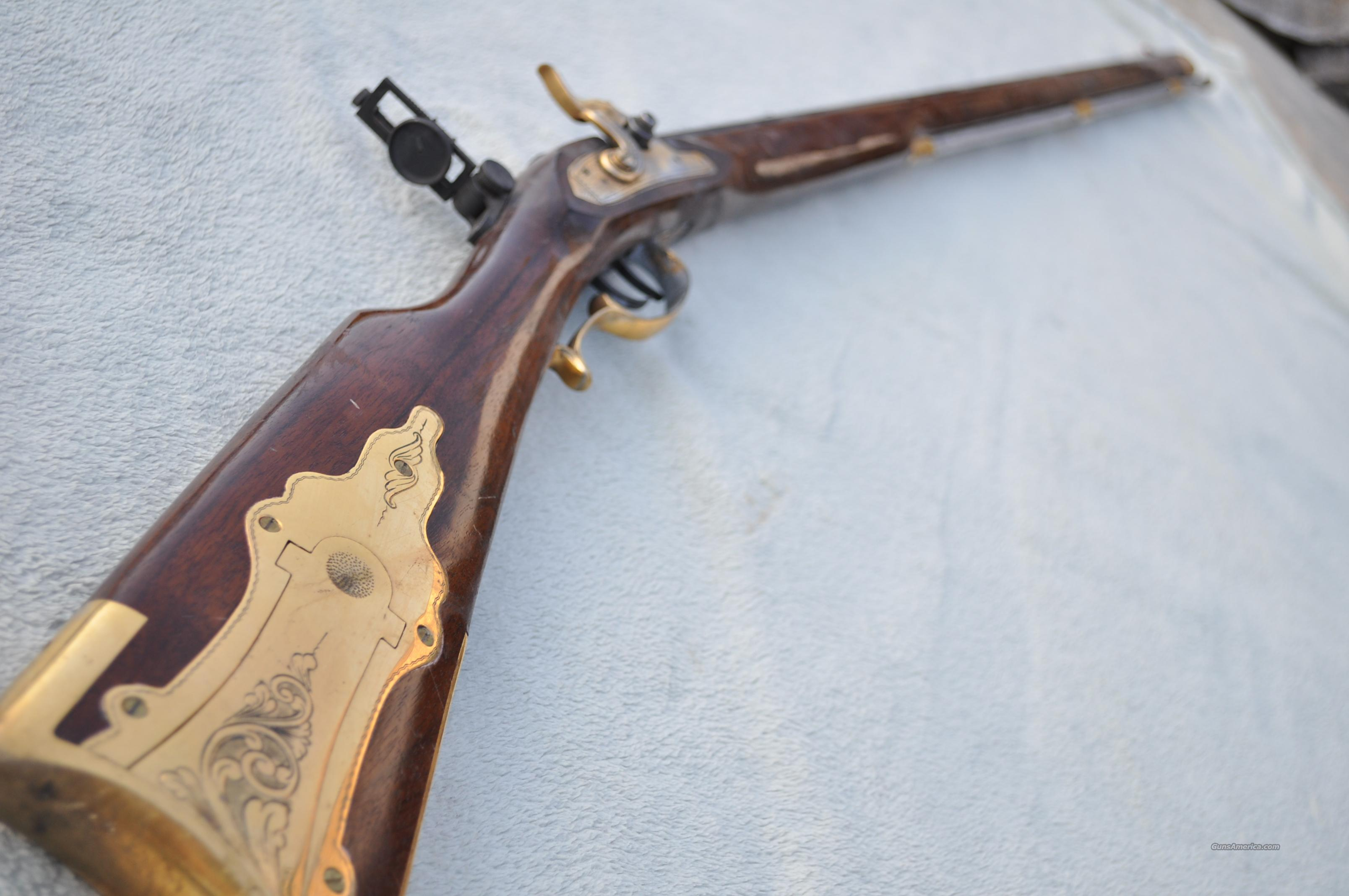 Connecticut Valley Arms Percussion Rifle .50 Cal Penn made in Spain with Tang Sight  Guns > Rifles > Connecticut  Valley Arms (CVA) Rifles > Traditional Muzzleloaders