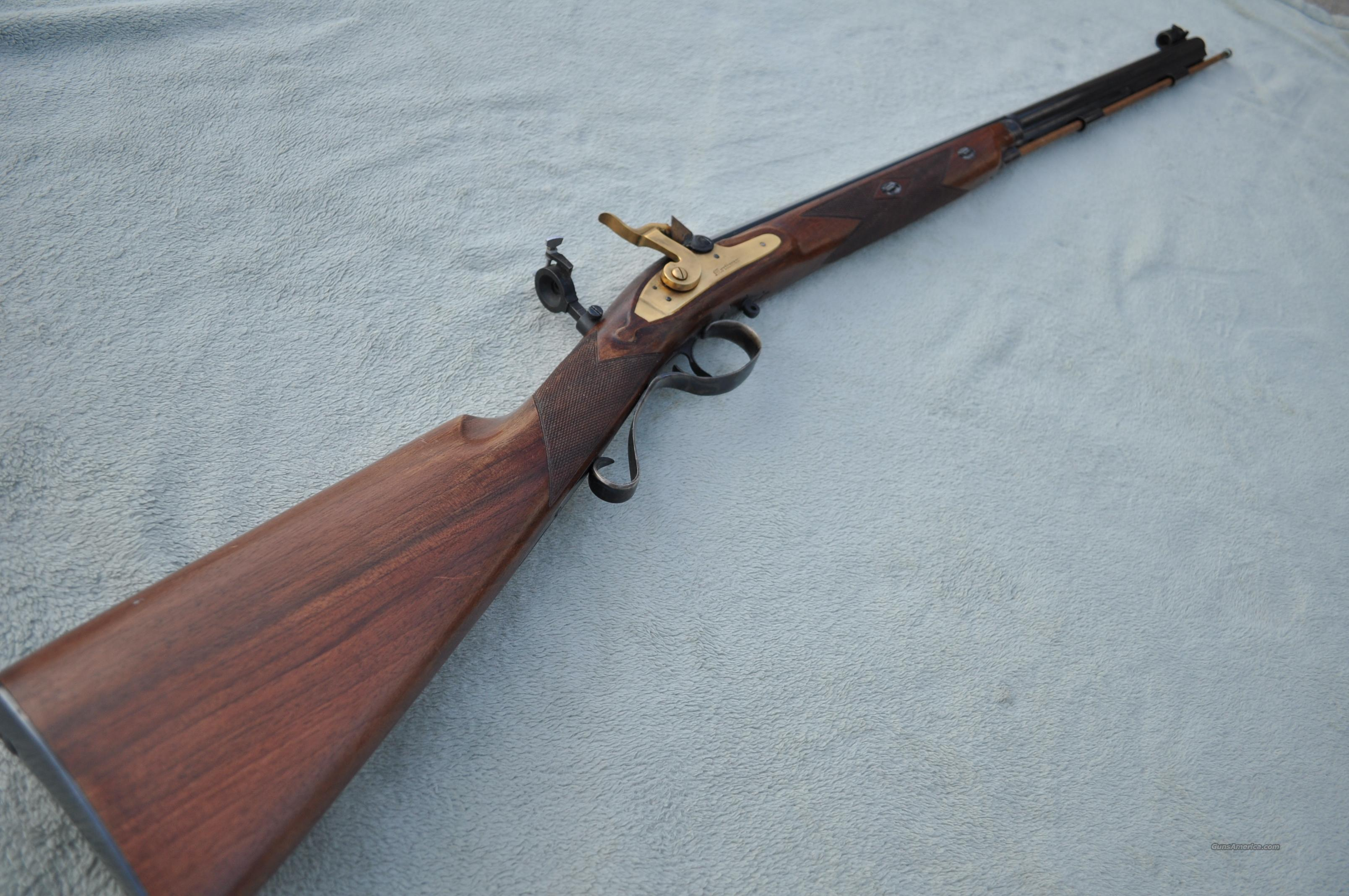 Pedersoli Mortimer .451 Cal Flintlock Rifle Made in Italy with Tang Sight  Guns > Rifles > Pedersoli Rifles > Flintlock