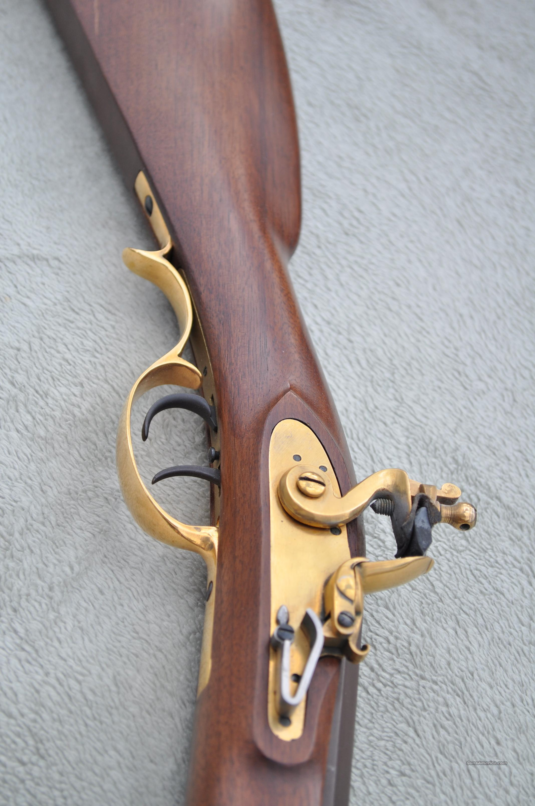 .32 Caliber 57 inch Long Double Trigger Flintlock Muzzleloading Black Powder Rifle  Guns > Rifles > Muzzleloading Replica Rifles (flint)