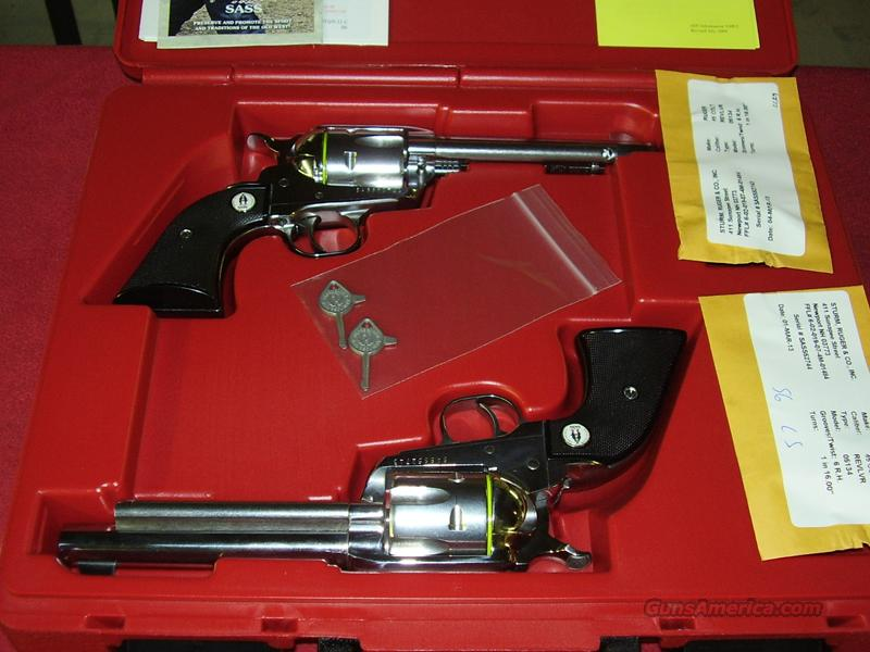 Ruger SASS set of Vaquero Revolvers (.45 Colt)  Guns > Pistols > Ruger Single Action Revolvers > Cowboy Action