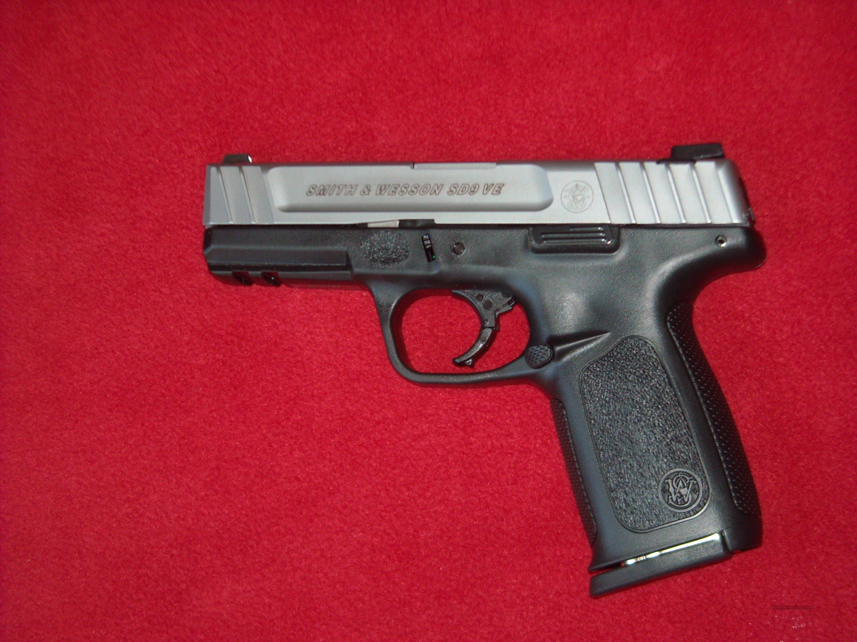 Smith & Wesson SD9 VE  9mm  Guns > Pistols > Smith & Wesson Pistols - Autos > Polymer Frame