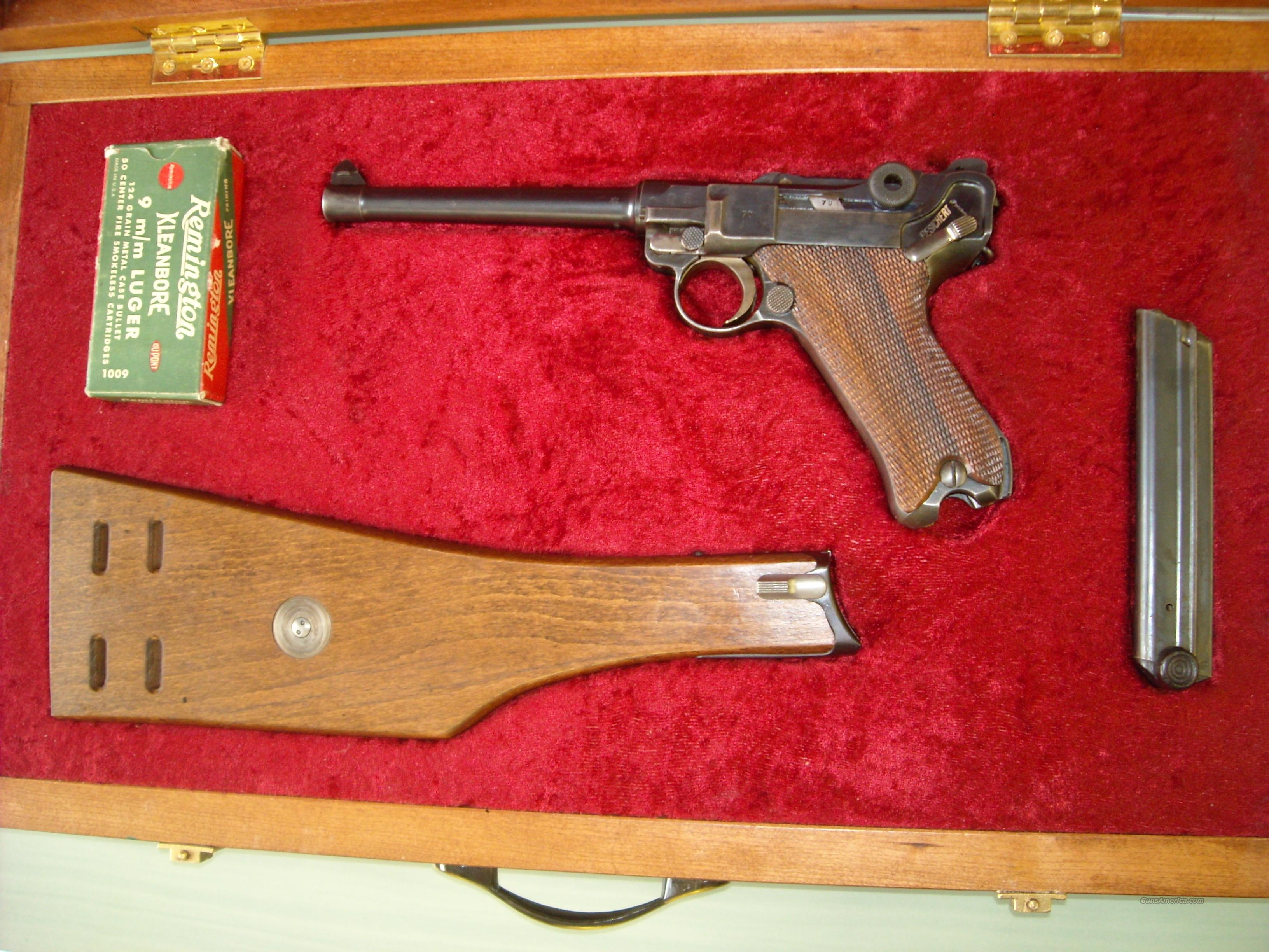 1920 Commercial Navy Luger  9mm  Guns > Pistols > Luger Pistols