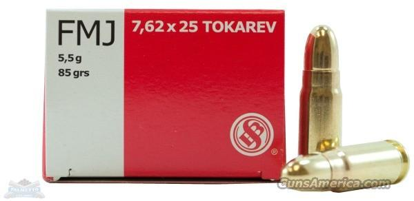 7.62x25 Tokarev, Sellier & Bellot, Brand New Ammo  Non-Guns > Ammunition