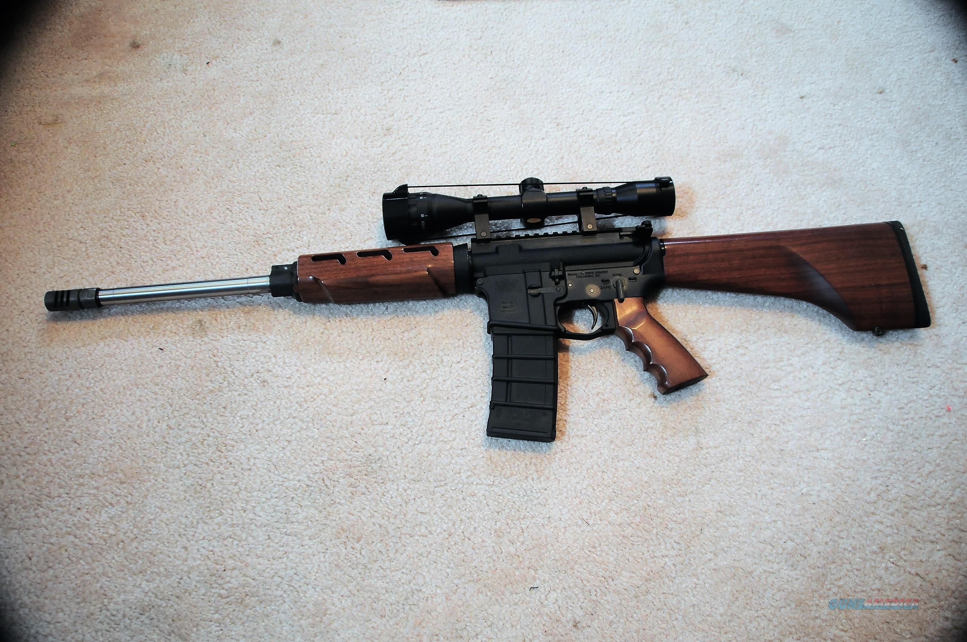 Walnut Stocked AR15  Guns > Rifles > AR-15 Rifles - Small Manufacturers > Complete Rifle