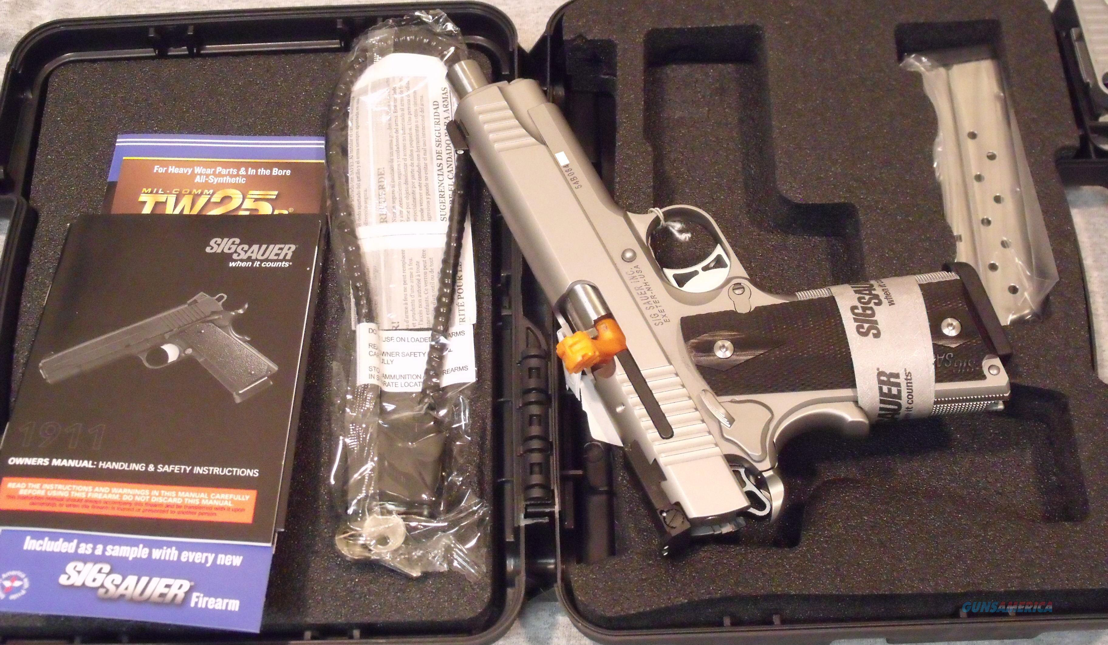 Sig Sauer 1911 9mm Luger Traditional Match Elite Stainless Factory NEW  Guns > Pistols > Sig - Sauer/Sigarms Pistols > 1911