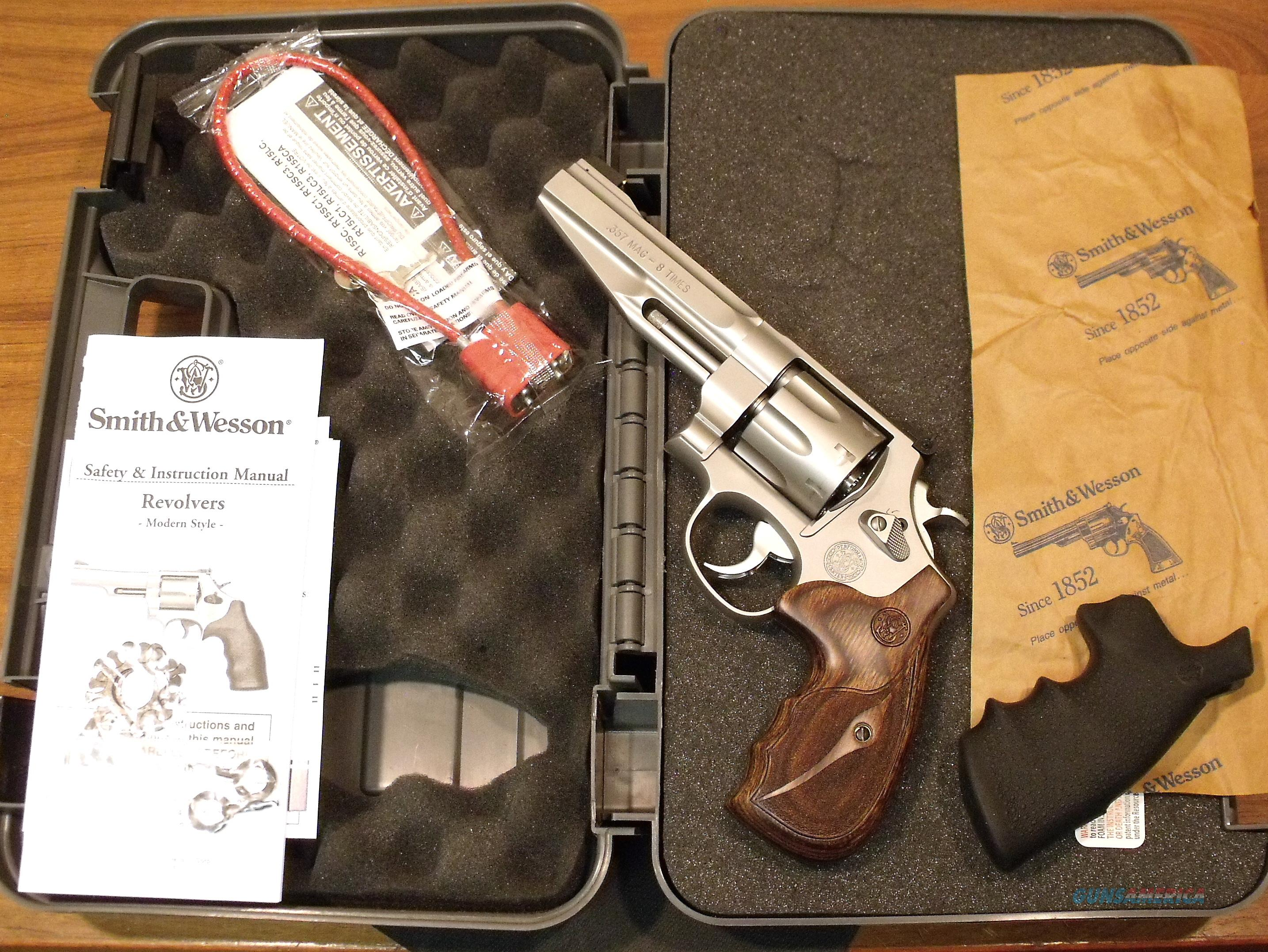 S&W Smith & Wesson 627-5 627 Performance Center Stainless 8-shot NEW CA OK 2 sets of Grips  Guns > Pistols > Smith & Wesson Revolvers > Performance Center