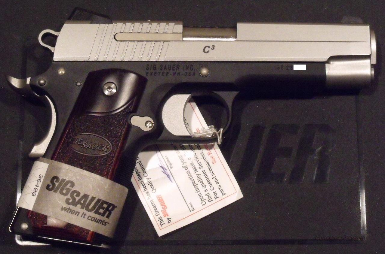 Sig Sauer 1911 C3 Compact .45 ACP NEW 3 Magazines  Guns > Pistols > Sig - Sauer/Sigarms Pistols > 1911