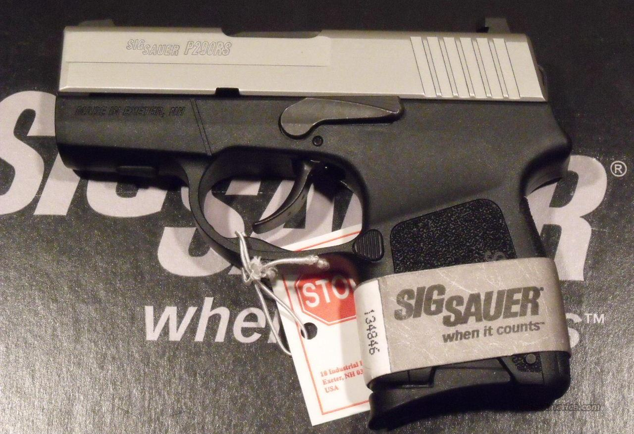 SIG Sauer P290RS ReStrike 2-Tone 9mm NEW Nights Sights Holster   Guns > Pistols > Sig - Sauer/Sigarms Pistols > P290