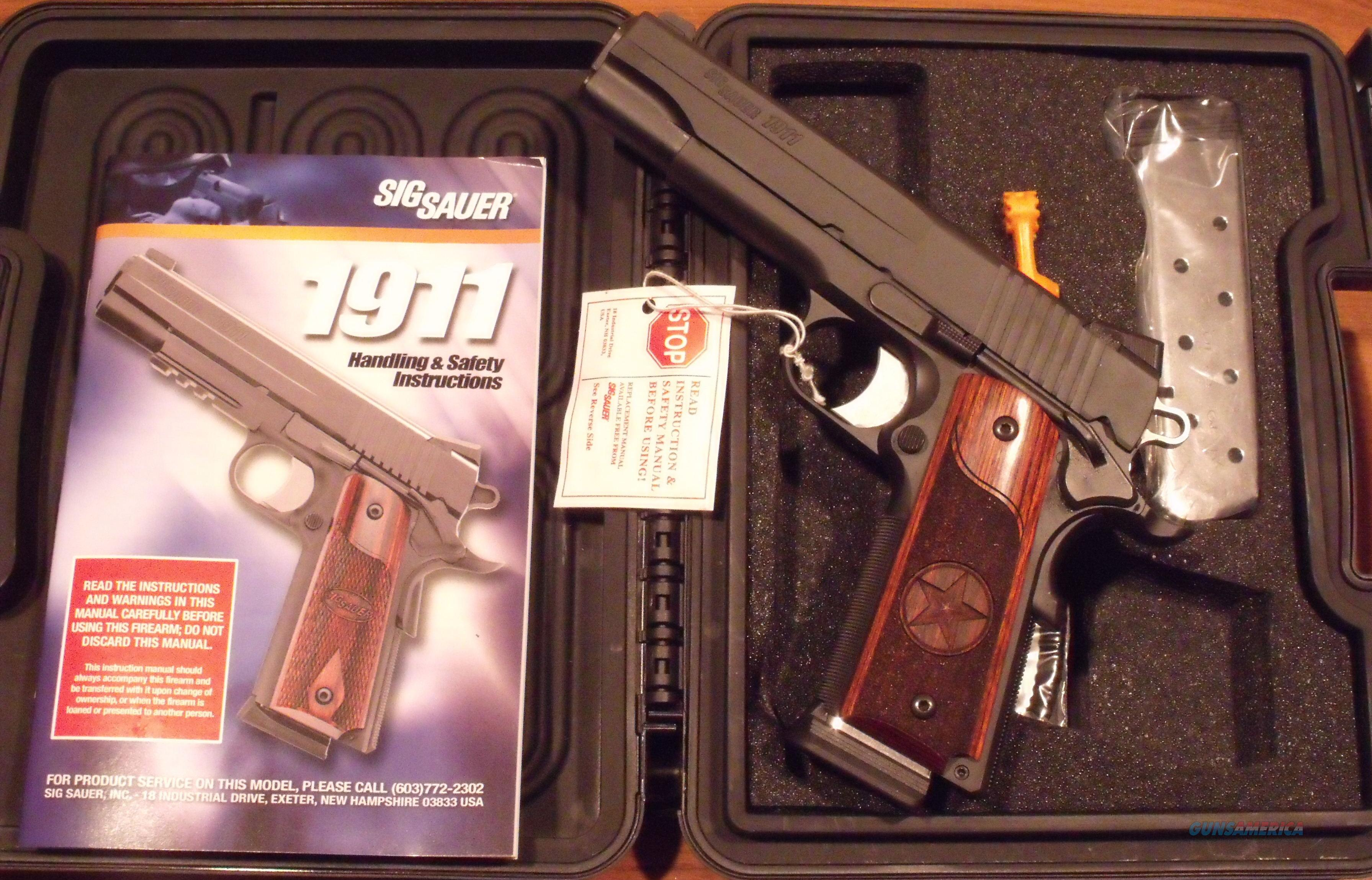 Sig Sauer 1911 Texas Special Edition 45 ACP Night Sights NEW  Guns > Pistols > Sig - Sauer/Sigarms Pistols > 1911
