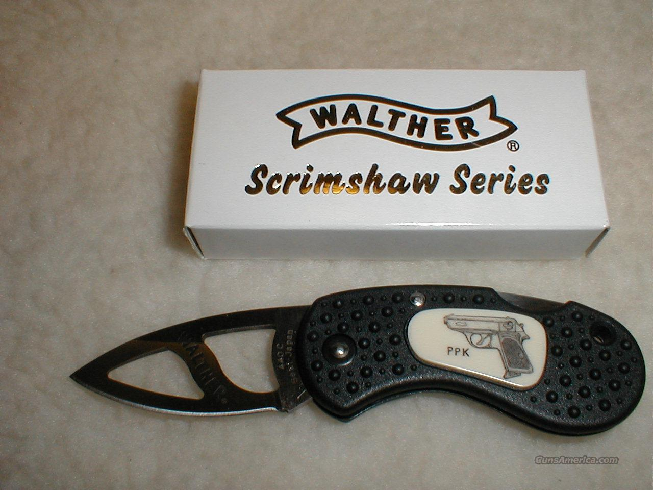 Walther PPK scrimshaw knife  Non-Guns > Knives/Swords > Knives > Folding Blade > Imported